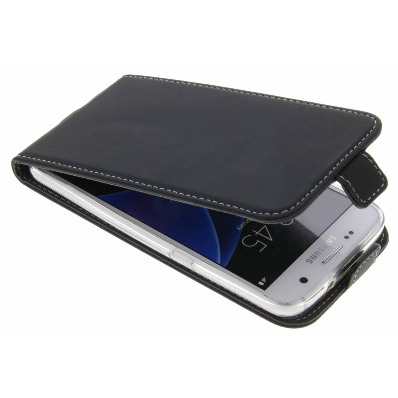 Zwarte TPU Flipcase voor de Samsung Galaxy S7