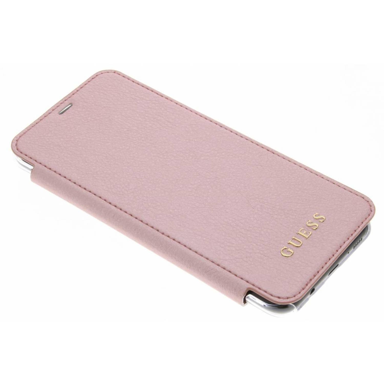 Roze Transparent Back Foliocase voor de Samsung Galaxy S8 Plus