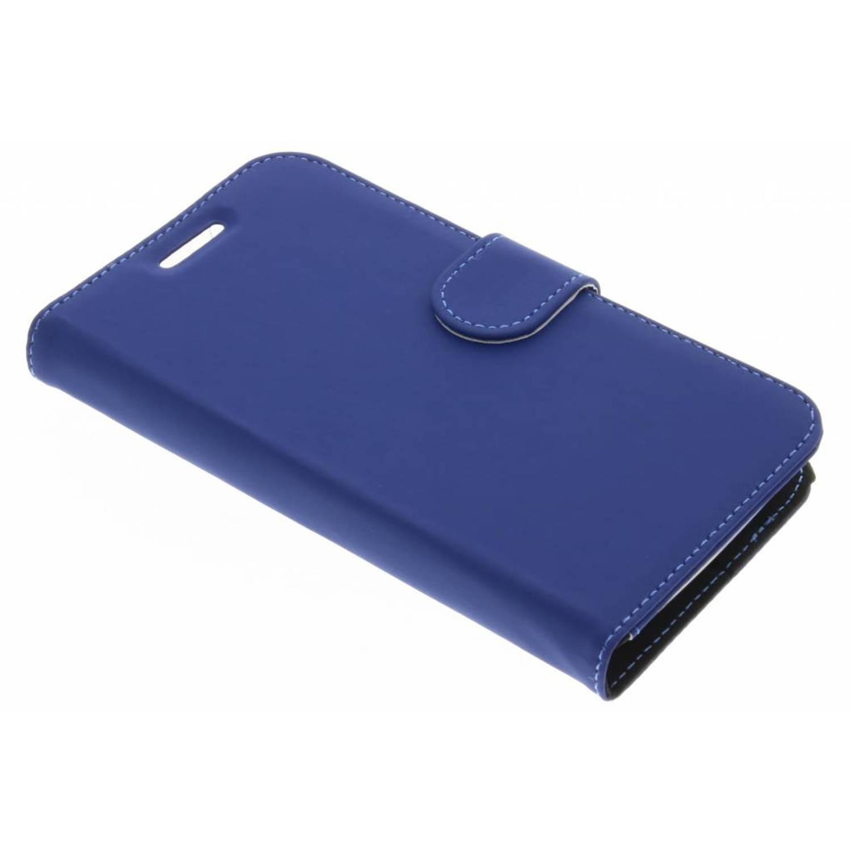 Afbeelding van Blauwe Wallet TPU Booklet voor de Motorola Moto C Plus