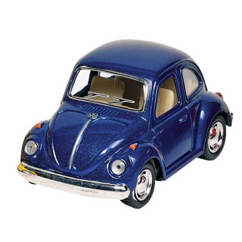 Goki metalen volkswagen klassieke kever 1967: blauw 13 cm