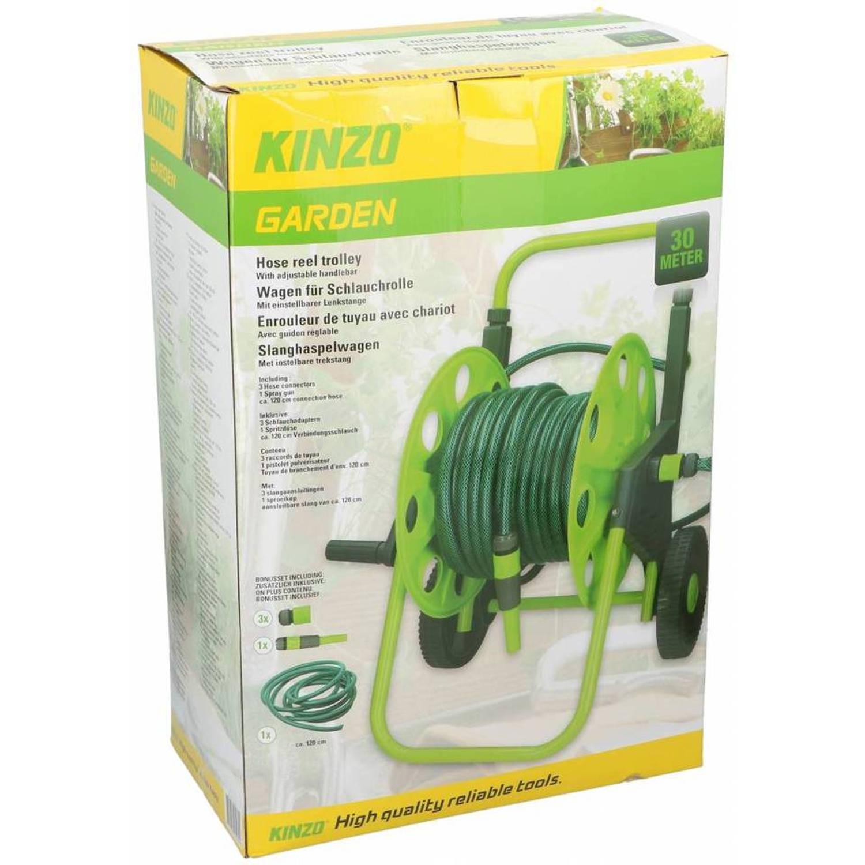 Kinzo tuinslang haspelwagen incl. 30 meter tuinslang