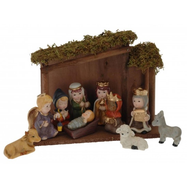 Afbeelding van 10-delige kerststal 28cm