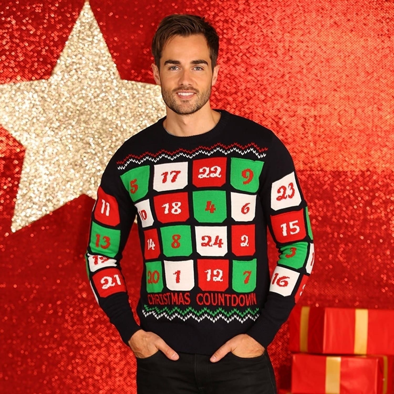 Kersttrui Heren Xl.Heren Kersttrui Adventskalender 3d Xl Blokker
