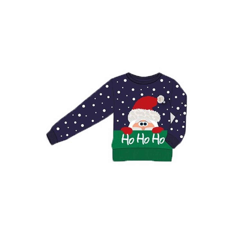 Kersttrui Ho Ho Ho voor kinderen 92-98