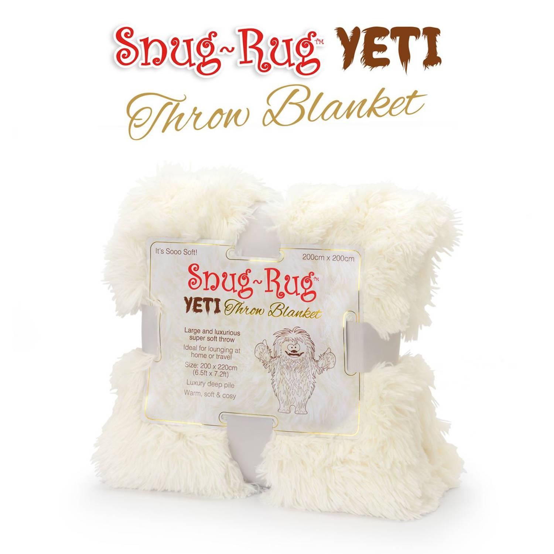 Snug-rug yeti throw deken - cream