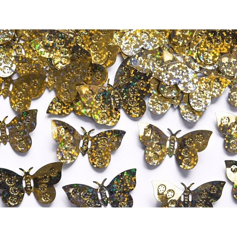 Korting Decoratie Confetti Gouden Vlinders 15 Gram Hobby Materialen Artikelen Mini Vlindertjes