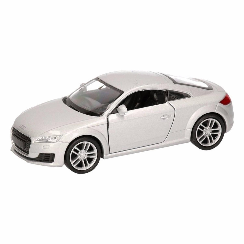 Afbeelding van Speelgoed grijze Audi TT 2014 Coupe auto 12 cm