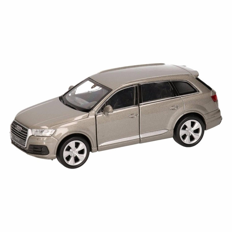 Afbeelding van Speelgoed grijze Audi Q7 auto 12 cm