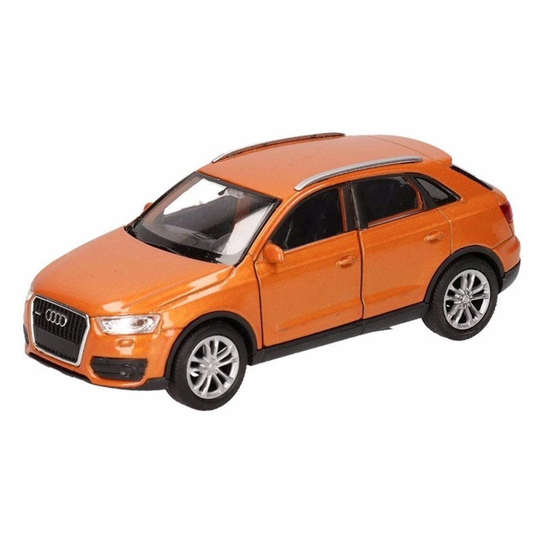 Afbeelding van Speelgoed oranje Audi Q3 auto 12 cm