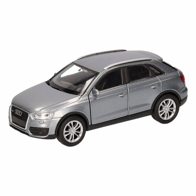 Afbeelding van Speelgoed grijze Audi Q3 auto 12 cm