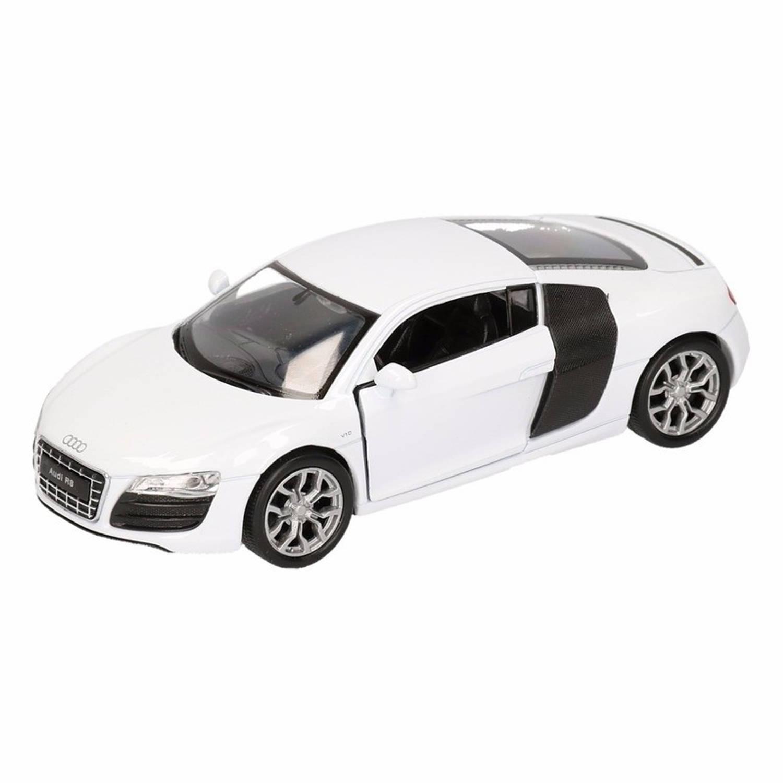 Afbeelding van Speelgoed witte Audi R8 auto 1:36
