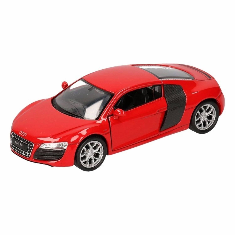 Afbeelding van Speelgoed rode Audi R8 auto 1:36