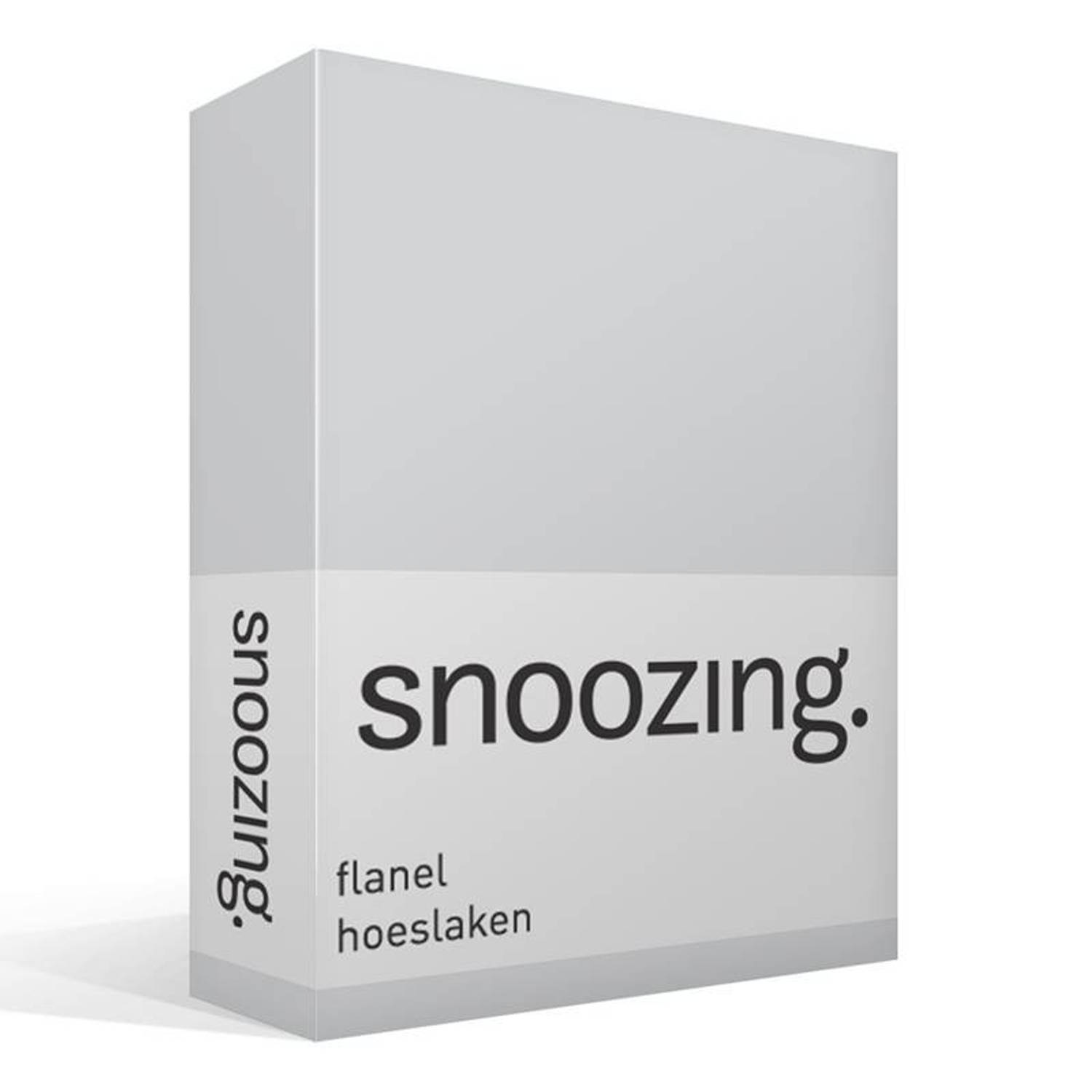 Snoozing flanel hoeslaken - lits-jumeaux (160x200 cm)