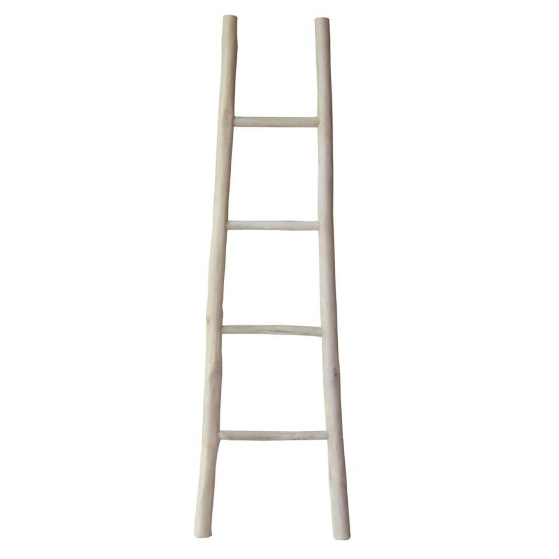 Teak Ladder 45 X 150 Cm Teakhout Bruin Blokker