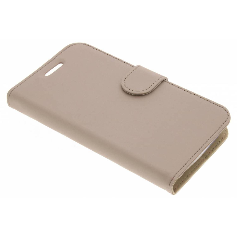 Gouden Wallet TPU Booklet voor de Motorola Moto C Plus