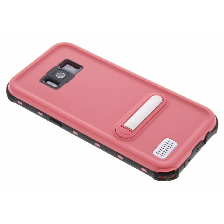 Roze Dot Waterproof Case voor de Samsung Galaxy S8