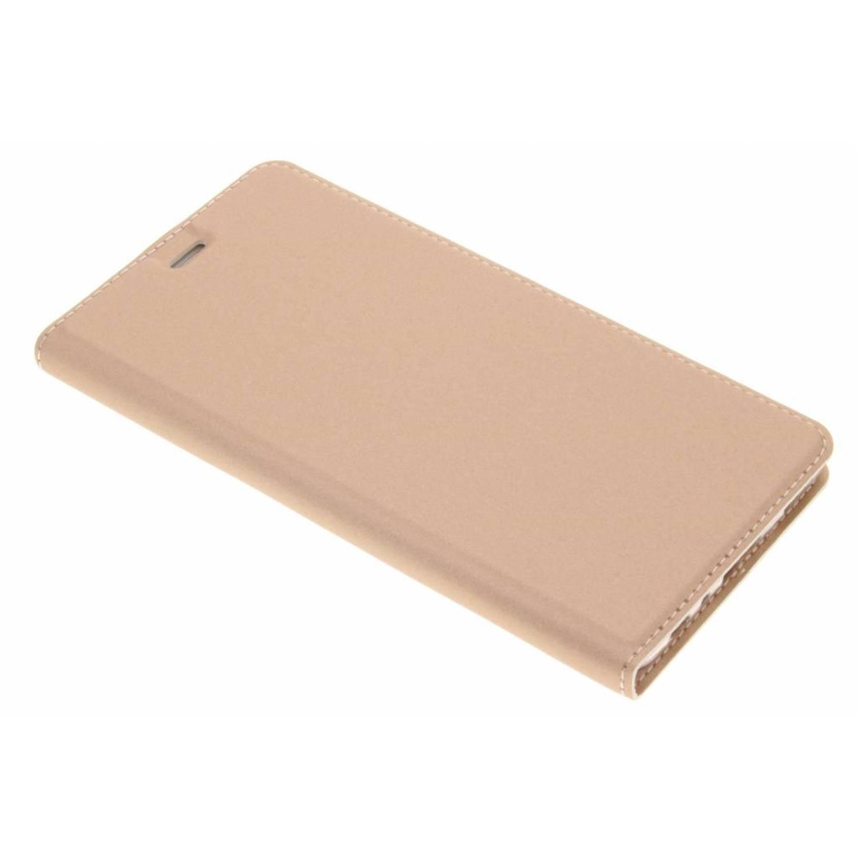 Rosé Gouden Slim TPU Booklet voor de Huawei P9