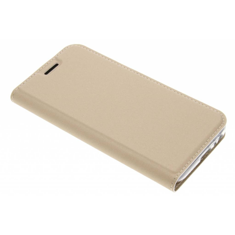 Gouden Slim TPU Booklet voor de Samsung Galaxy A3 (2017)