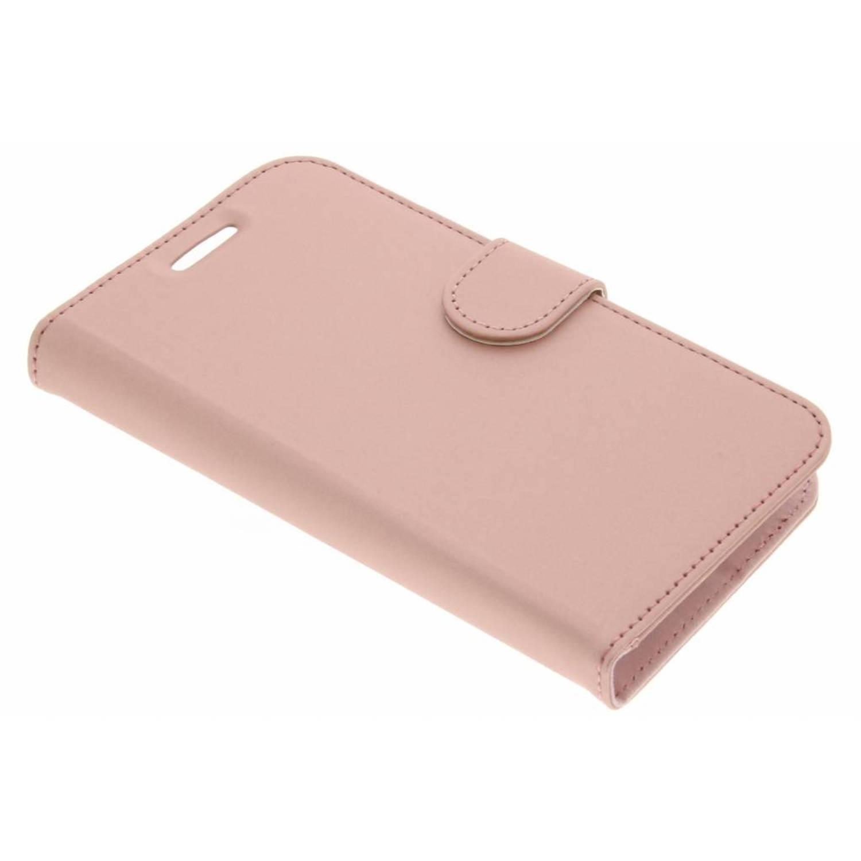 Rosé Gouden Wallet TPU Booklet voor de Motorola Moto C Plus