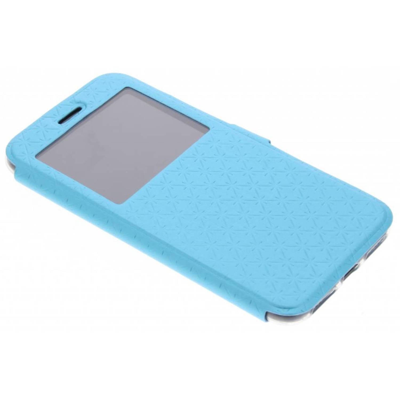 Blauw Rhombus hoesje voor de iPhone X