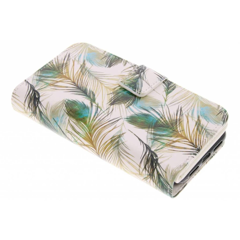 Feathers design tpu portemonnee voor de iphone x