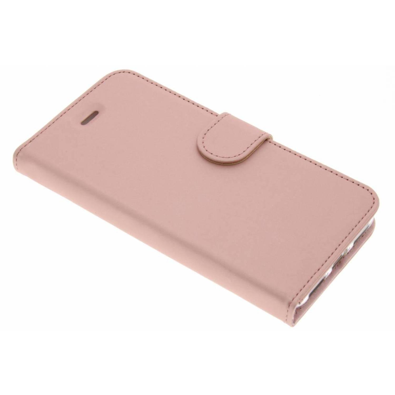 Roze Wallet TPU Booklet voor de Huawei P8 Lite (2017)