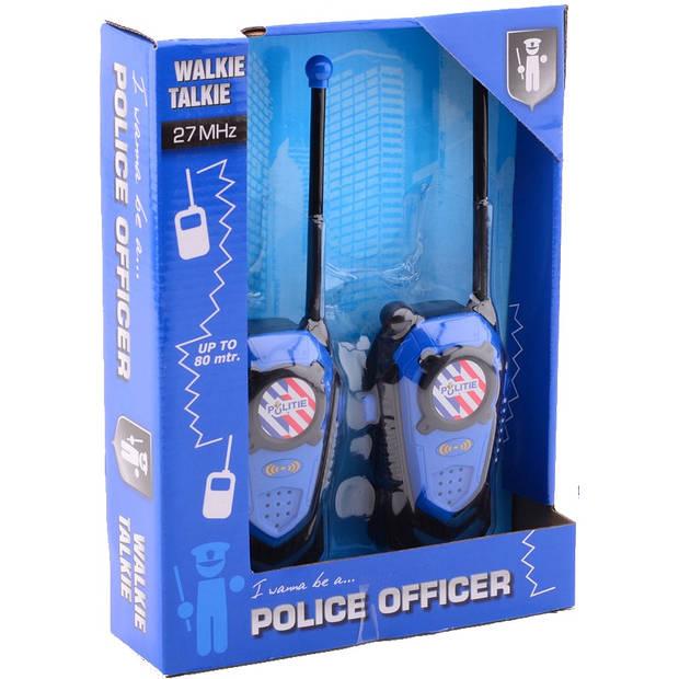 Johntoy walkie-talkie-set Politie 2-delig 80 mtr