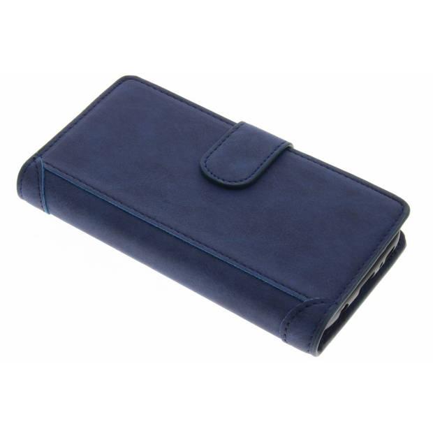 Blauwe luxe portemonnee hoes voor de Samsung Galaxy S7