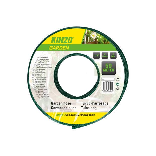 """Kinzo Garden tuinslang - 50 meter - gewapend - diameter 1/2"""" / 14 mm"""