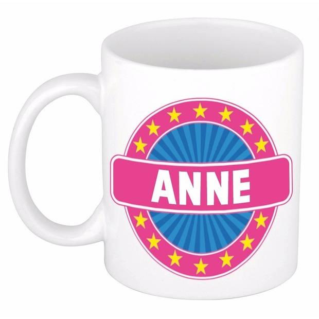 Anne naam koffie mok / beker 300 ml - namen mokken