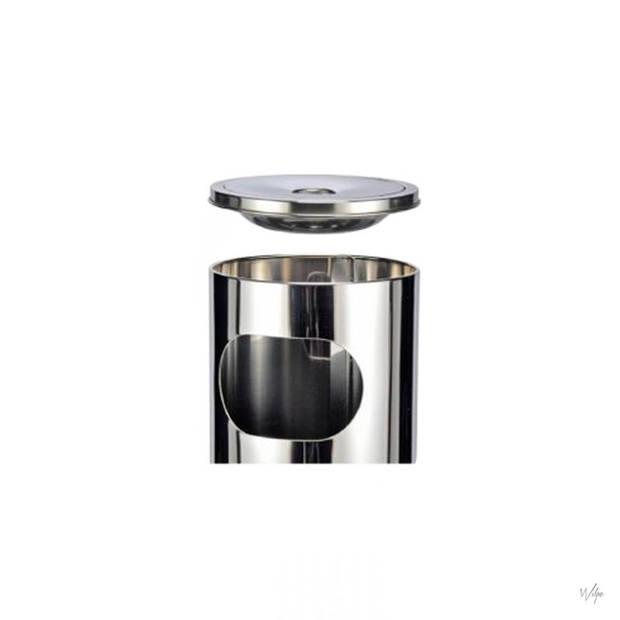 Haushalt 16260 - Asbak - RVS - met afvalbak - 25 liter