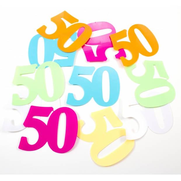 Mega confetti 50 jaar leeftijd versiering 12 stuks