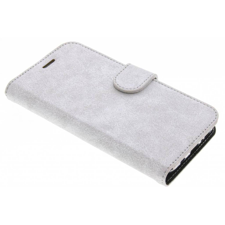 Zilveren Glitter Wallet TPU Booklet voor de Samsung Galaxy S8 Plus