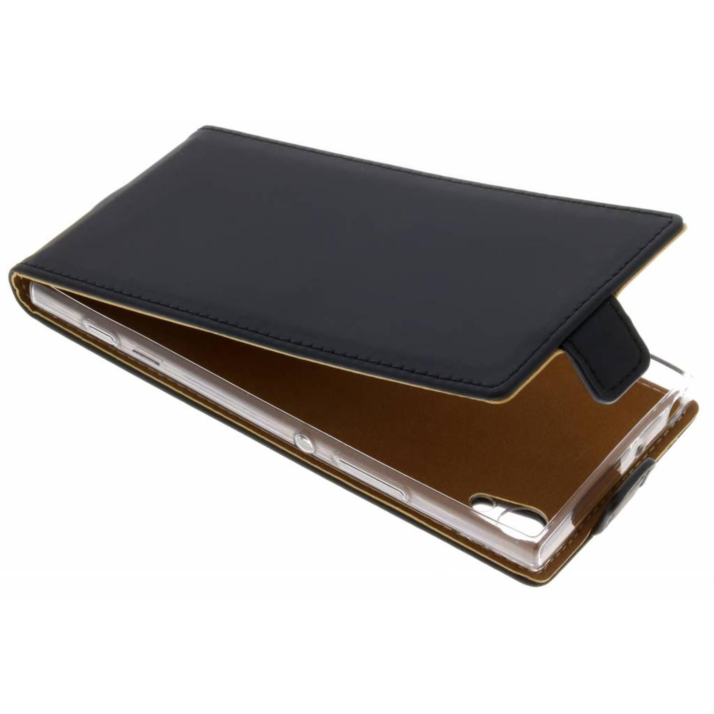 Zwarte Luxe TPU Flipcase voor de Sony Xperia XA1