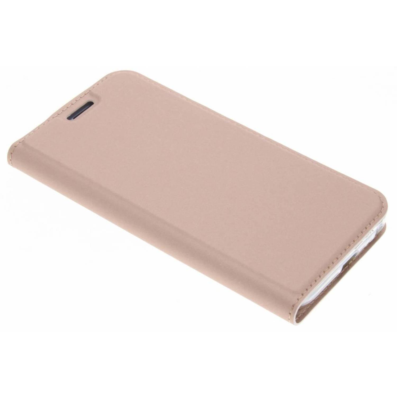 Rosé Gouden Slim TPU Booklet voor de Samsung Galaxy J3 (2017)