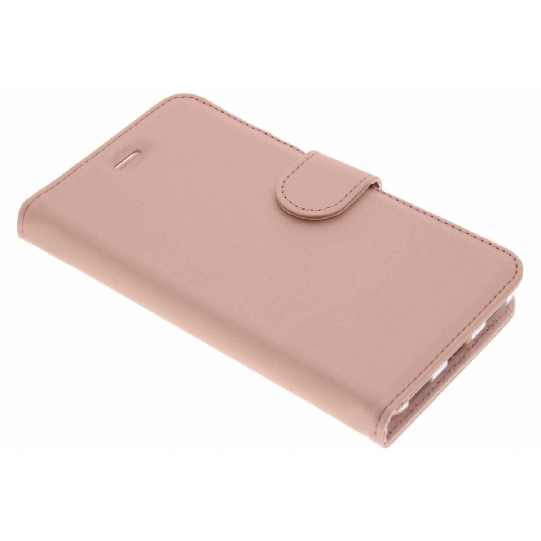 Rosé Gouden Wallet TPU Booklet voor de Huawei Y6 (2017)