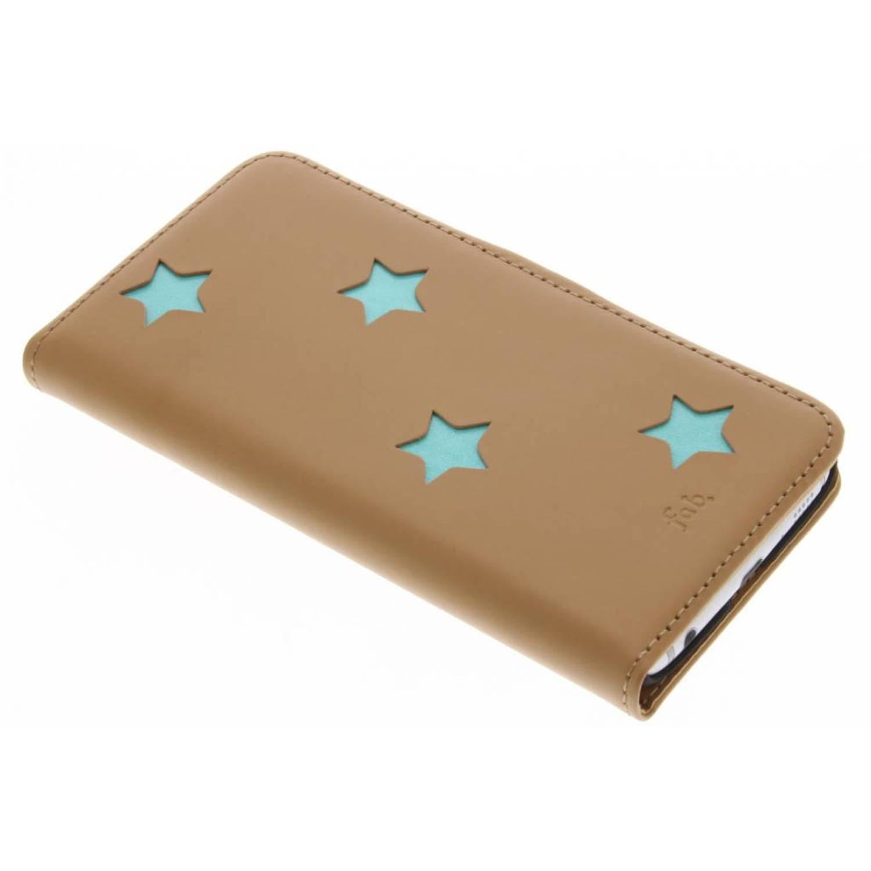 Bruine Reversed Star Booktype voor de Samsung Galaxy S6