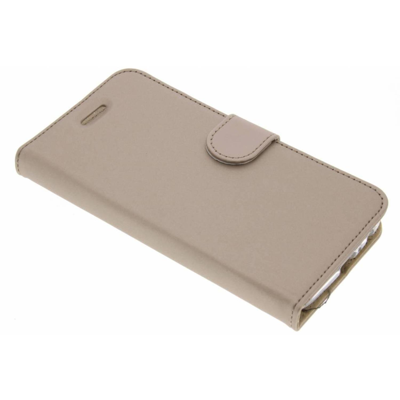 Gouden Wallet TPU Booklet voor de Motorola Moto G5 Plus