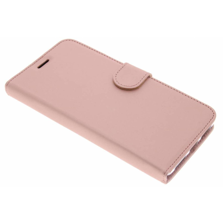 Roze wallet tpu booklet voor de huawei mate 9