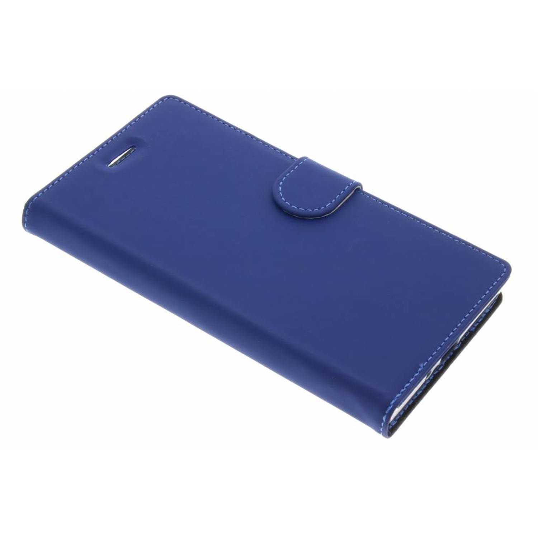Afbeelding van Blauwe wallet tpu booklet voor de sony xperia xz premium