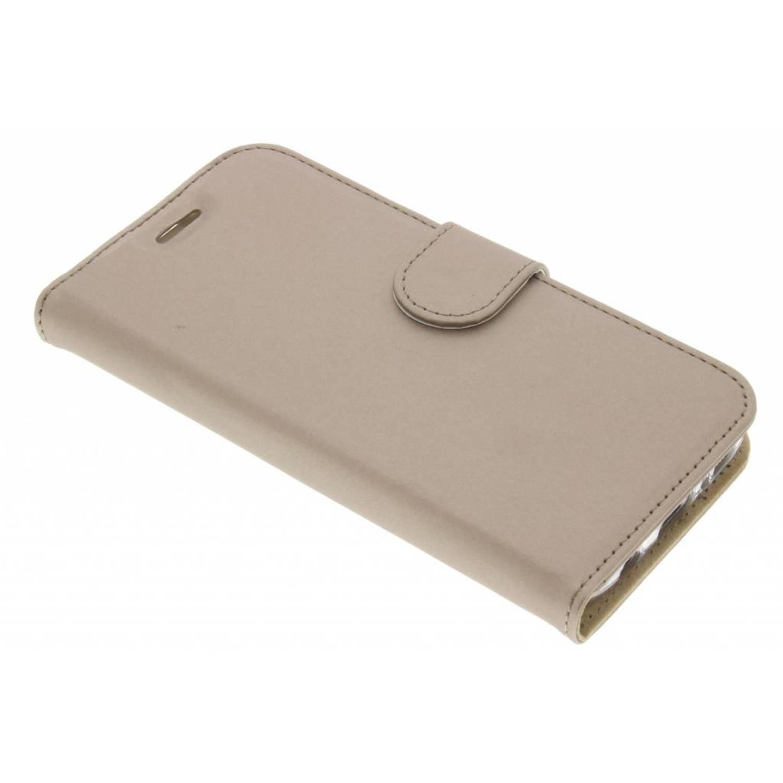 Gouden Wallet TPU Booklet voor de Samsung Galaxy S7
