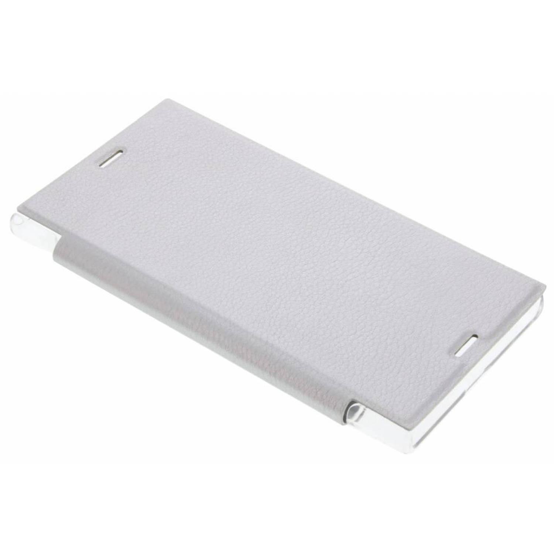 Zilveren transparant slim booktype hoes voor de Sony Xperia XZ / XZs