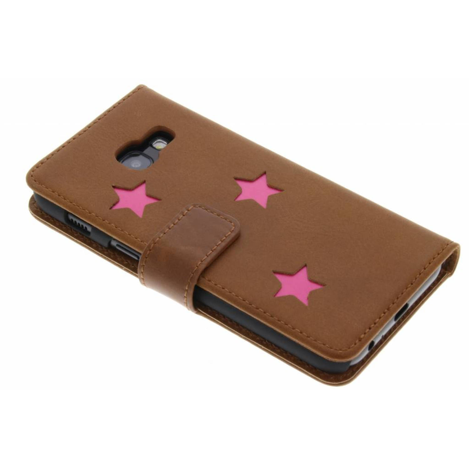Pink Reversed Star Booktype hoes voor de Samsung Galaxy A3 (2017)