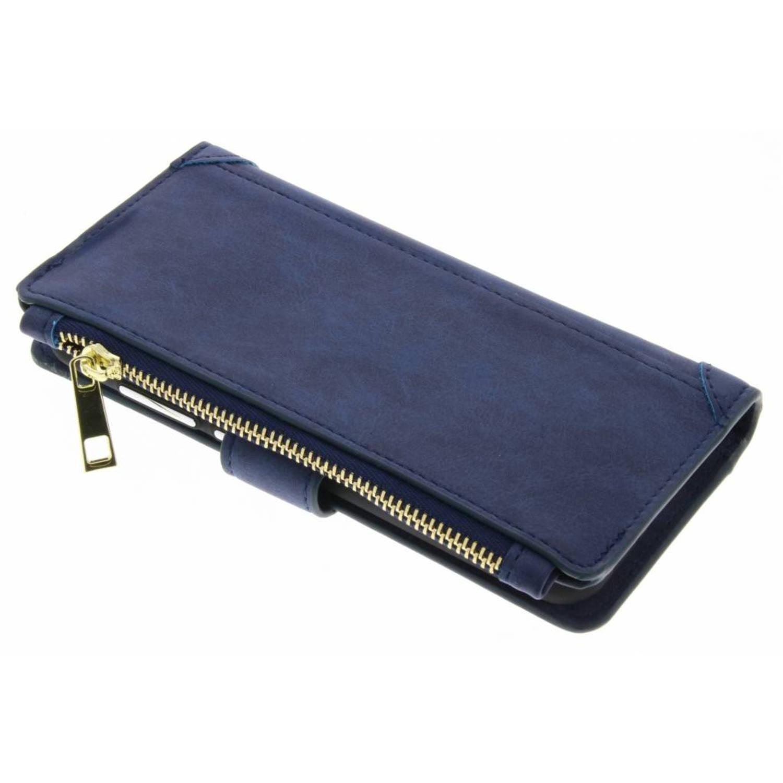 Blauwe luxe portemonnee hoes voor de Huawei P10
