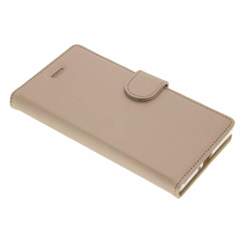 Wallet tpu booklet voor de sony xperia xz / xzs - goud