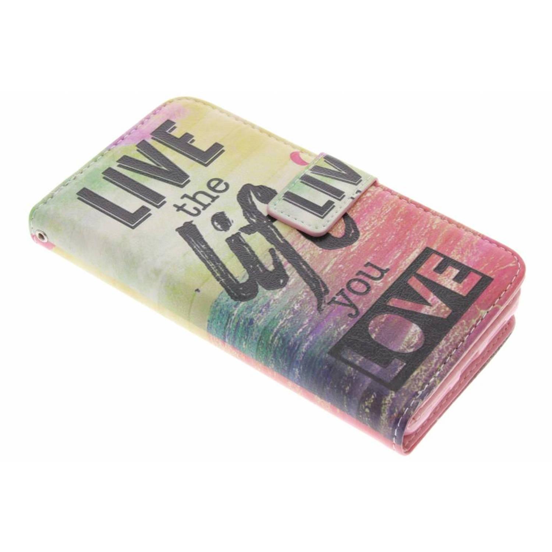 Live the life design tpu portemonnee voor de huawei p9 lite