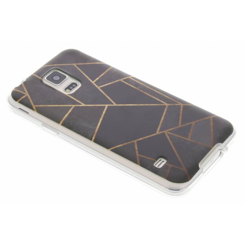 Zwart Grafisch design TPU hoesje voor de Samsung Galaxy S5 (Plus) / Neo