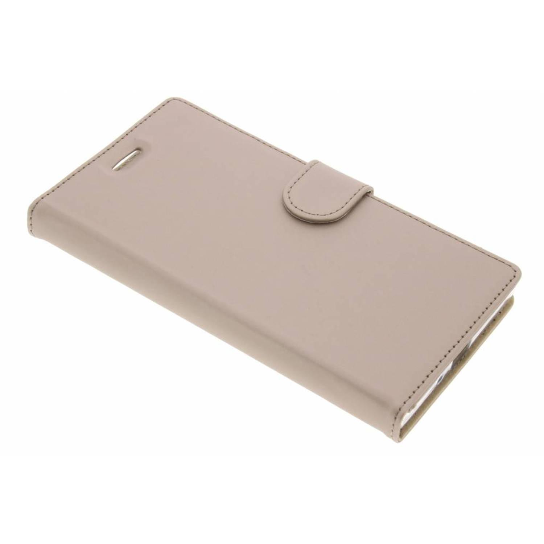 Gouden wallet tpu booklet voor de sony xperia xz premium