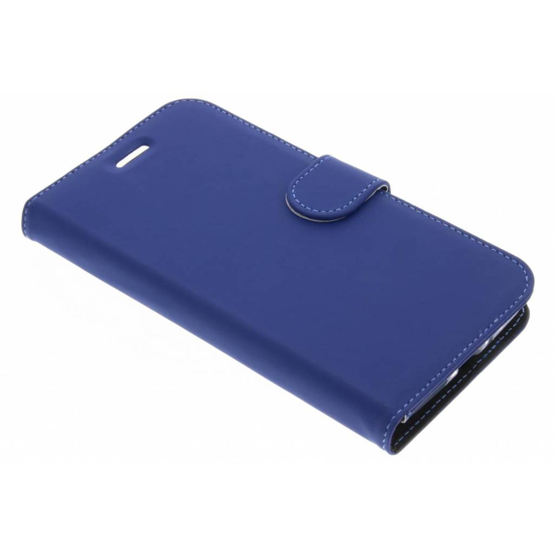 Afbeelding van Blauwe Wallet TPU Booklet voor de Motorola Moto E4 Plus