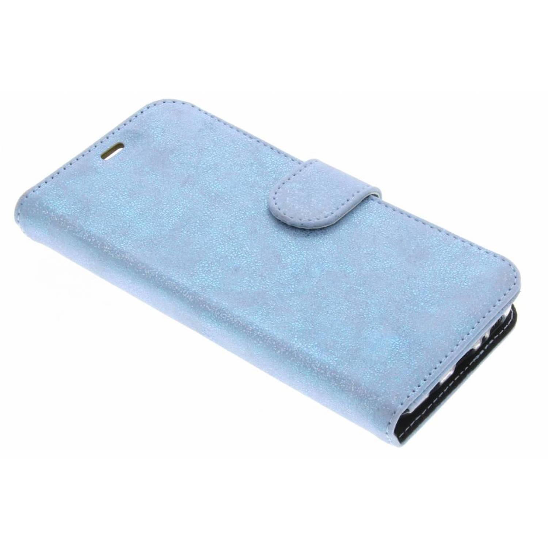 Afbeelding van Blauwe Glitter Wallet TPU Booklet voor de Samsung Galaxy S8 Plus